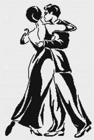 «Танец» черно-белые тона